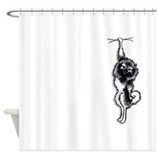 Clingy Keeshond Shower Curtain