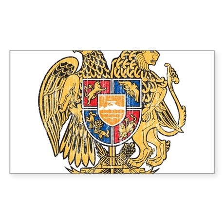 Armenia Coat Of Arms Sticker (Rectangle)