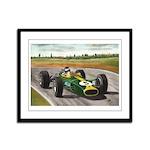 Jim Clark, Framed Panel Print