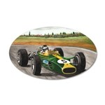 Jim Clark, 38.5 x 24.5 Oval Wall Peel