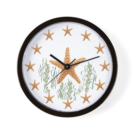GOLD STARFISH Wall Clock