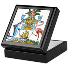 Bahamas Coat Of Arms Keepsake Box