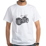 Custom Motorcycle, Hole shot White T-Shirt