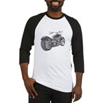 Custom Motorcycle, Hole shot Baseball Jersey