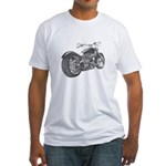 Custom Motorcycle, Hole shot Fitted T-Shirt