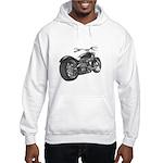 Custom Motorcycle, Hole shot Hooded Sweatshirt