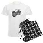 Custom Motorcycle, Hole shot Men's Light Pajamas