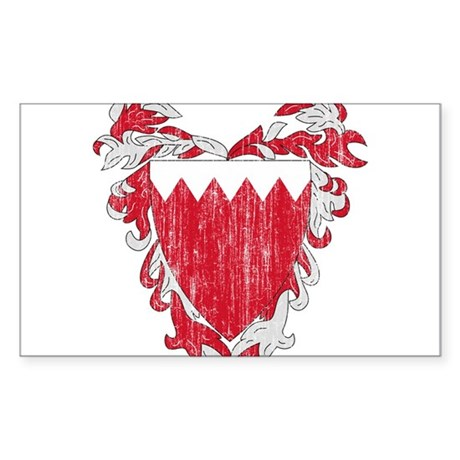 Bahrain Coat Of Arms Sticker (Rectangle)