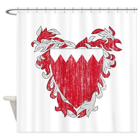 Bahrain Coat Of Arms Shower Curtain