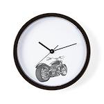 Custom Motorcycle, Hole shot Wall Clock
