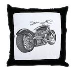 Custom Motorcycle, Hole shot Throw Pillow