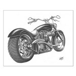 Custom Motorcycle, Hole shot Small Poster