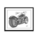 Custom Motorcycle, Hole shot Framed Panel Print