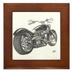 Custom Motorcycle, Hole shot Framed Tile
