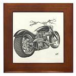 Custom Motorcycle, Hole shot Framed Tile