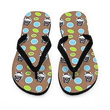 Keeshond Seeing Spots Flip Flops