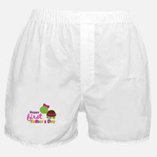 Girl turtle happy 1st fathers day Boxer Shorts
