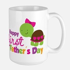 Girl turtle happy 1st fathers day Mug
