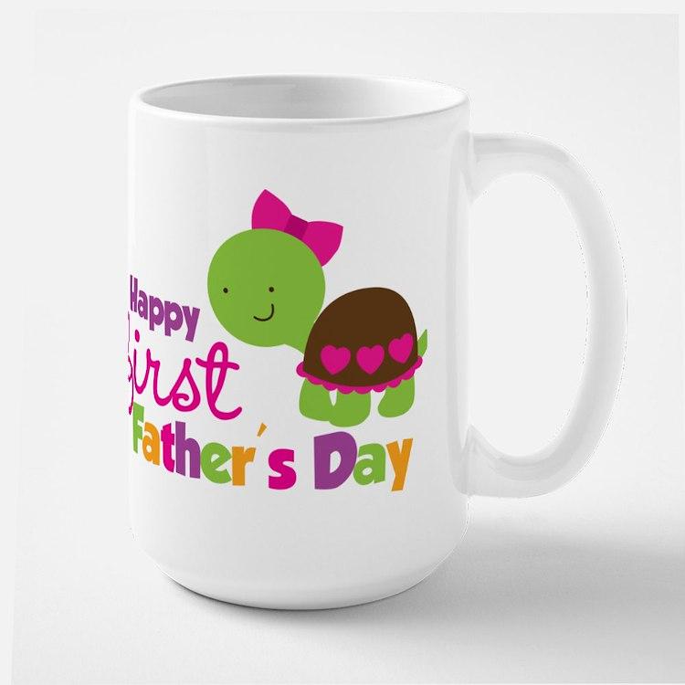Girl turtle happy 1st fathers day Mug
