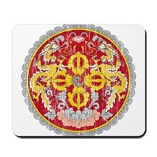 Bhutan Coat Of Arms Mousepad