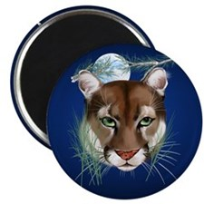 "Midnight Moutian Lion- 2.25"" Magnet (10 pack)"