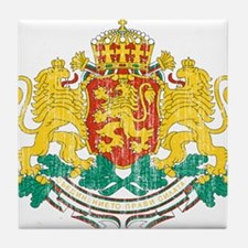Bulgaria Coat Of Arms Tile Coaster