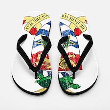 Cayman Islands Coat Of Arms Flip Flops