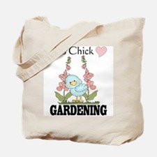 This Chick Loves Gardening Tote Bag
