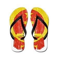 China Coat Of Arms Flip Flops