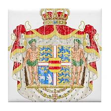 Royal Denmark Coat Of Arms Tile Coaster