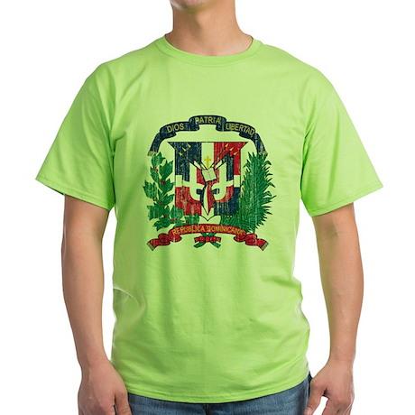 Dominican Republic Coat Of Arms Green T-Shirt