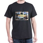 Camp Beale California (Front) Black T-Shirt