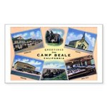 Camp Beale California Rectangle Sticker