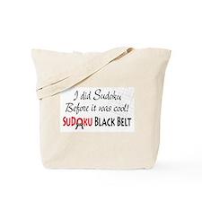 Did Sudoku Before Black Belt Tote Bag