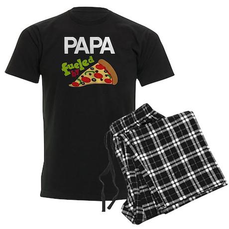 Papa Fueled By Pizza Men's Dark Pajamas