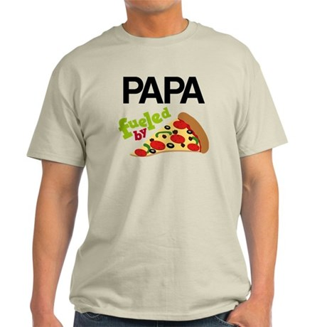 Papa Fueled By Pizza Light T-Shirt