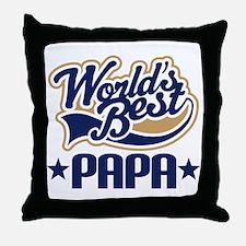 Papa (Worlds Best) Throw Pillow