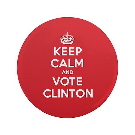 """K C Vote Clinton 3.5"""" Button"""