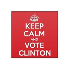 "K C Vote Clinton Square Sticker 3"" x 3"""
