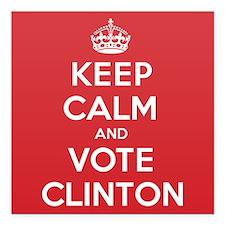 """K C Vote Clinton Square Car Magnet 3"""" x 3"""""""