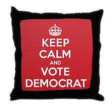 K C Vote Democrat Throw Pillow