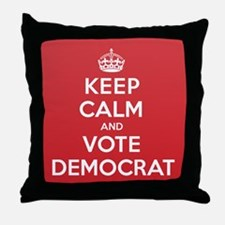 K C Vote Democrat Throw Pillow