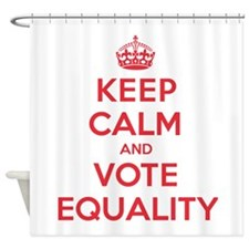 K C Vote Equality Shower Curtain