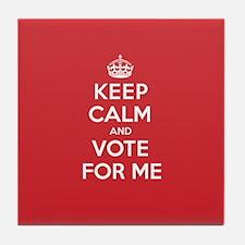 K C Vote Me Tile Coaster