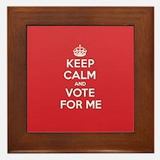K C Vote Me Framed Tile
