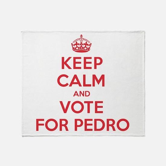 K C Vote Pedro Throw Blanket