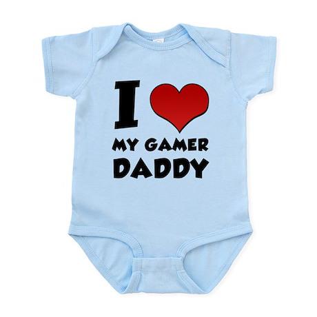 I Heart My Gamer Daddy! Infant Bodysuit