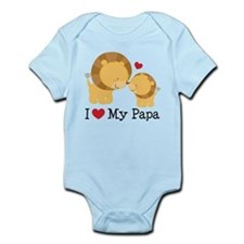I Heart My Papa Infant Bodysuit