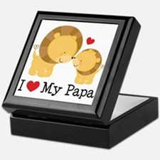 I Heart My Papa Keepsake Box