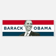 Barack Obama (Red, White Blue with Image) Bumper Bumper Sticker